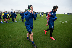 Jake Heenan and Steven Luatua of Bristol Bears in action during a training session - Rogan/JMP - 04/03/2021 - RUGBY UNION - Bristol Bears High Performance Centre - Bristol, England.