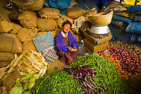 Woman with vegetables, Thimphu Sunday Market, Bhutan