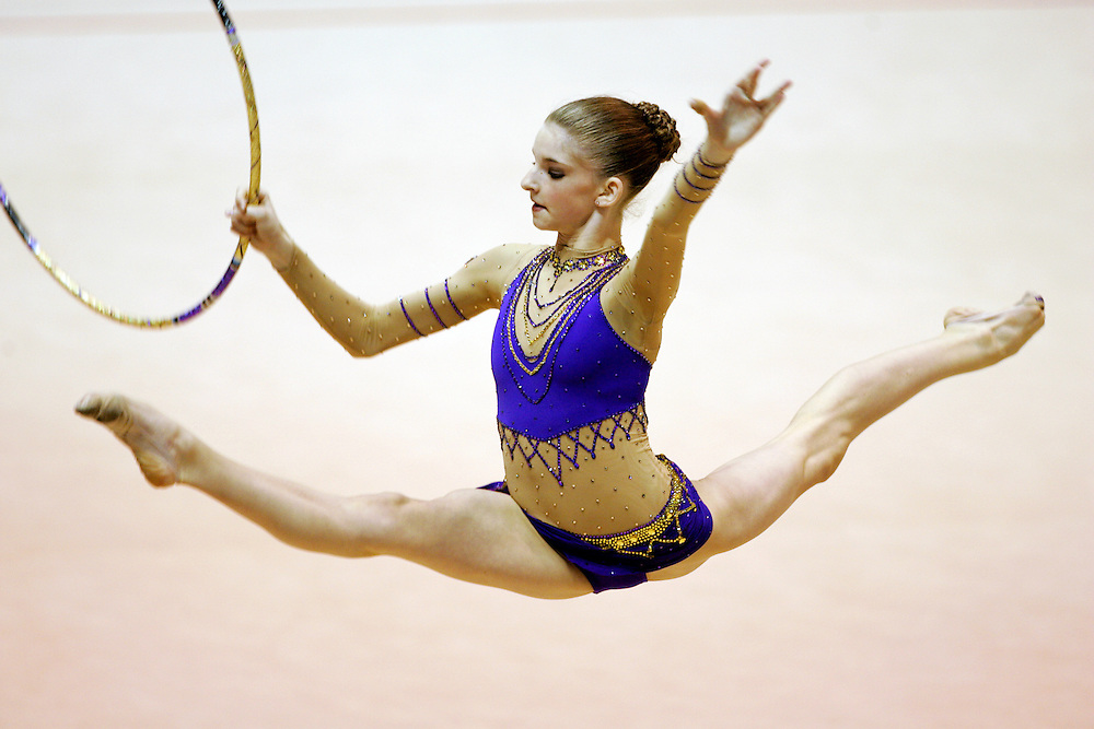Rhythmic Gymnastics.Rebecca Wallenstein competes at the Convention Center in Indianapolis..