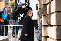 Edinburgh, Scotland, UK. 13 March, 2020. Alex Salmond arrives at High Court in Edinburgh on day five of his trial. Iain Masterton/Alamy Live News
