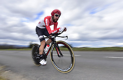March 7, 2018 - Saint Etienne, France - SAINT-ETIENNE, FRANCE - MARCH 7 : DE GENDT Thomas  (BEL)  of Lotto Soudal  during stage 4 of the 2018 Paris - Nice cycling race, an individual time trial over 18,4 km from La Fouillouse to Saint-Etienne on March 07, 2018 in Saint-Etienne, France, 07/03/2018 (Credit Image: © Panoramic via ZUMA Press)