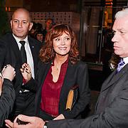 NLD/Amsterdam/20121105 - Premiere Cloud Atlas en start Amsterdam Film Week, vetrek Susan Sarandon