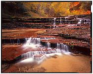 Zion National Park, UT 11/1/2015<br /> Archangel Falls, Left Fork of the North Creek<br /> f/22, 12 second exposure on Kodak Ektar film<br /> Alex Jones / www.alexjonesphoto.com