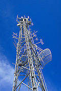 GSM and CDMA cellsite and communications antenna array for the cellular telephone system on a tower. <br />