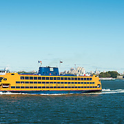 Staten Island Ferry transports passengers between Manhattan and Saten Island