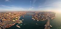 Panoramic aerial view of Istanbul, Turkey