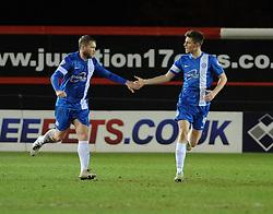 Peterborough United celebrate their goal - Photo mandatory by-line: Dougie Allward/JMP - Mobile: 07966 386802 11/03/2014 - SPORT - FOOTBALL - Peterborough - London Road Stadium - Peterborough United v Bristol City - Sky Bet League One