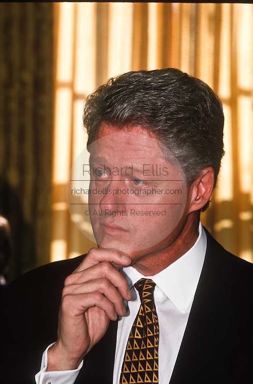 President Bill Clinton December 2, 1996 at the White House in Washington. Clinton awarded the Congressional Medal of Honor for Space to Dr. Shannon Lucid at the event.