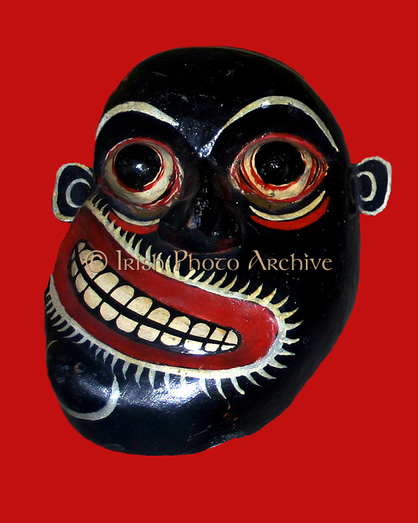 Demon mask from Sri Lanka, 19th – 20th century AD. This is a mask used for medicine men or healers combating disease