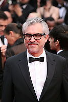 Alfonso Cuarón at the the Grace of Monaco gala screening and opening ceremony red carpet at the 67th Cannes Film Festival France. Wednesday 14th May 2014 in Cannes Film Festival, France.