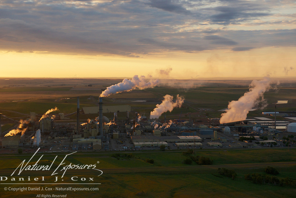 Tesoro refinery along the Missouri river near Mandan, North Dakota.
