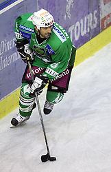 Ralph Intranuovo of Olimpija at 3rd round of Slovenian Ice-Hockey National Championships semi-final match between HD Tilia Olimpija, Ljubljana and Medvescak Zagreb, Croatia, on March 11, 2009, in Hala Tivoli, Ljubljana, Slovenia. (Photo by Vid Ponikvar / Sportida)