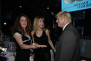 Rebekah Wade, Tania Hughes and Boris Johnson, The 7th GQ Man of the Year Awards, Royal Opera House. 7 September 2004. In association with Armani Mania. SUPPLIED FOR ONE-TIME USE ONLY-DO NOT ARCHIVE. © Copyright Photograph by Dafydd Jones 66 Stockwell Park Rd. London SW9 0DA Tel 020 7733 0108 www.dafjones.com