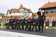Alex Fitzpatrick (GB&I) being introduced during the Official Opening of the Walker Cup, Royal Liverpool Golf CLub, Hoylake, Cheshire, England. 06/09/2019.<br /> Picture Thos Caffrey / Golffile.ie<br /> <br /> All photo usage must carry mandatory copyright credit (© Golffile | Thos Caffrey)