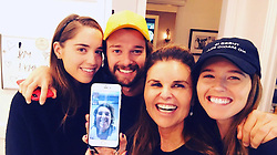 """Maria Shriver releases a photo on Twitter with the following caption: """"""""It's my birthday!!<br /> Nothing better than being with all my kids and heading out to #vote!"""""""". Photo Credit: Twitter *** No USA Distribution *** For Editorial Use Only *** Not to be Published in Books or Photo Books ***  Please note: Fees charged by the agency are for the agency's services only, and do not, nor are they intended to, convey to the user any ownership of Copyright or License in the material. The agency does not claim any ownership including but not limited to Copyright or License in the attached material. By publishing this material you expressly agree to indemnify and to hold the agency and its directors, shareholders and employees harmless from any loss, claims, damages, demands, expenses (including legal fees), or any causes of action or allegation against the agency arising out of or connected in any way with publication of the material."""