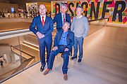 Luqman Arnold, Chairman of trustees, Sir Terrance Conran, founder, and John Pawson, lead designer - The Design Museum has moved to Kensington High Street from its former home as an established London landmark on the banks of the river Thames.  The new museum will be devoted to contemporary design and architecture, an international showcase for the many design skills at which Britain excels and a creative centre, promoting innovation and nurturing the next generation of design talent. His Royal Highness toured the museum to view the transformation of a modernist building from the 1960s, which was the former Commonwealth Institute.  17  November 2016, London.