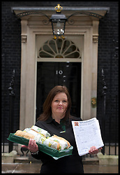 Maureen Hibbens Subway Franchisees join subway owner David Cameron to deliver a petition to Downing Street from Subway, Tuesday January 22, 2013. Photo: Andrew Parsons / i-Images