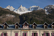 Chamonix-Mont-Blanc in the French Alps on 20th March 2017
