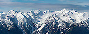2-shot panorama of part of the Bailey Range, as seen from Hurricane Ridge in Olympic National Park.