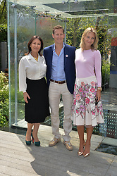 Left to right, ARLENE PHILLIPS, BRENDAN COLE and ZOE HOBBS at the 2014 RHS Chelsea Flower Show held at the Royal Hospital Chelsea, London on 19th May 2014.