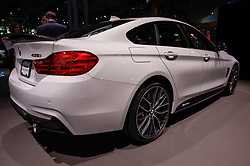 NEW YORK, USA - MARCH 23, 2016: BMW 435i on display during the New York International Auto Show at the Jacob Javits Center.