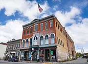 1879 Tabor Opera House in Leadville, Lake County, Colorado, USA. At an elevation of 10,152 feet, Leadville is the highest incorporated city and the second highest incorporated municipality in the United States. A former silver mining town that lies near the headwaters of the Arkansas River in the heart of the Rocky Mountains, the Leadville Historic District contains many historic structures and sites from its dynamic mining era. In the late 1800s, Leadville was the second most populous city in Colorado, after Denver.