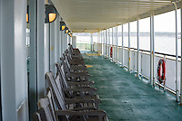 Empty ship deck on Cape May-Lewes Ferry.