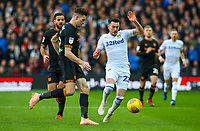 Leeds United's Jack Harrison vies for possession with Hull City's Reece Burke<br /> <br /> Photographer Alex Dodd/CameraSport<br /> <br /> The EFL Sky Bet Championship - Leeds United v Hull City - Saturday 29th December 2018 - Elland Road - Leeds<br /> <br /> World Copyright © 2018 CameraSport. All rights reserved. 43 Linden Ave. Countesthorpe. Leicester. England. LE8 5PG - Tel: +44 (0) 116 277 4147 - admin@camerasport.com - www.camerasport.com
