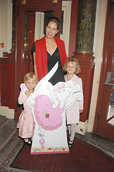 DARCEY BUSSELL with her daughters left, ZOE and right PHOEBE at a children's ballet workshop and tea party to celebrate the world premiere of 'Angelina's Star Performance' Angelina Ballerina's first real life ballet hosted by the National Ballet at the New Wimbledon Theatre, London SW19 on 6th September 2007.<br /><br />NON EXCLUSIVE - WORLD RIGHTS
