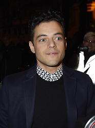 Actor Rami Malek is present at the Valentino Show Haute Couture Spring/Summer 2019 as part of Paris Fashion Week on January 23, 2019 in Paris, France.