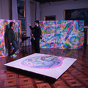 Eventi del Fuorisalone nelle strade di Milano, in occasine del Salone Internazionale del Mobile.<br /> RGB Fabulous Landscape di Carnovsky presso la fondazione Pini<br /> <br /> The events of Fuorisalone around the city during the Furniture International Show in Milan. RGB Fabulous Landscape of Carnovsky at the foundation Pini.