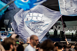 April 28, 2018 - Naples, Italy - Neapoletan Supporters to Central Station Celebrations the departure to Florence, prior to the serie A match between SSC Napoli and FC  Fiorentina, in Naples, Italy, on April 28, 2018. (Credit Image: © Paolo Manzo/NurPhoto via ZUMA Press)