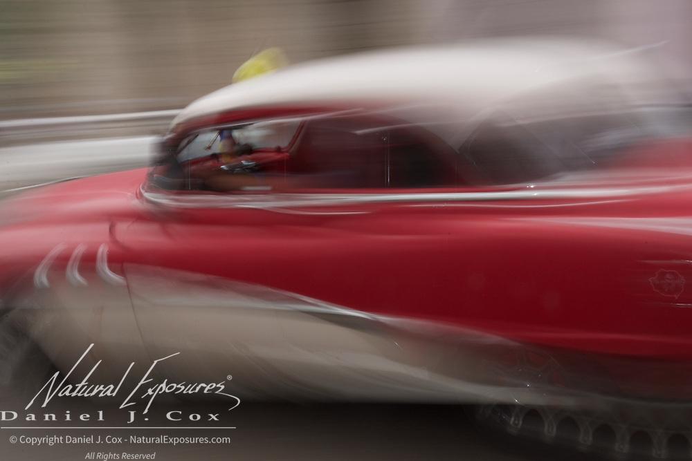 A vintage car on the streets of Havana, Cuba.