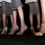 Milan, Italy, September 25, 2010. Backstage at Emporio Armani during the Milan Women's Fashion Week Spring/Summer 2011.