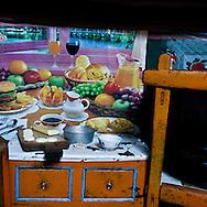 Mongolia. inside yurt (ger) daily life, decoration  Tariat sum arkangai -   /  interieur de yourte, decoration, vie quotidienne  Tariat sum arkangai - Mongolie /  L0009327L