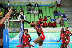Natalia Martinez of Dominican Republic during the volleyball match between National team of Turkey and Dominican Republic in Semifinal Round of Womens U23 World Championship 2017, on September 16, 2017 in SRC Stozice, Ljubljana, Slovenia. Photo by Morgan Kristan / Sportida