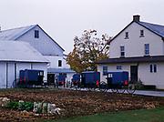Sunday services at Amish Farm, Pennsylvania Dutch Country, Lancaster County, Pennsylvania.