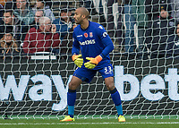 Football - 2016 / 2017 Premier League - West Ham United vs. Stoke City<br /> <br /> <br /> Lee Grant of Stoke City at The London Stadium.<br /> <br /> COLORSPORT/DANIEL BEARHAM