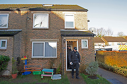 © Licensed to London News Pictures. 20/12/2018. New Ash Green, UK.Police at the family home in New Ash Green this morning, The former partner of missing mother of five Sarah Wellgreen has been arrested on suspicion of her murder.  .Photo credit: Grant Falvey/LNP