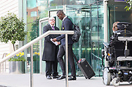 Eric Bailly Defender of Manchester United departs the Lowry hotel before the Manchester United vs Celta Vigo match  at Old Trafford, Manchester, United Kingdom on 11 May 2017. Photo by Phil Duncan.