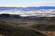 View from hillslooking south over plastic farming in the valley,  near Nijar, Almeria, Spain