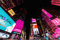 NEW YORK CITY- MARCH 23, 2018 : Times square Broadway Theater District one of the main Manhattan Landmarks
