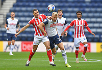 Preston North End's Jayden Stockley battles with Stoke City's James Chester<br /> <br /> Photographer Dave Howarth/CameraSport<br /> <br /> The EFL Sky Bet Championship - Preston North End v Stoke City - Saturday 26th September 2020 - Deepdale - Preston <br /> <br /> World Copyright © 2020 CameraSport. All rights reserved. 43 Linden Ave. Countesthorpe. Leicester. England. LE8 5PG - Tel: +44 (0) 116 277 4147 - admin@camerasport.com - www.camerasport.com