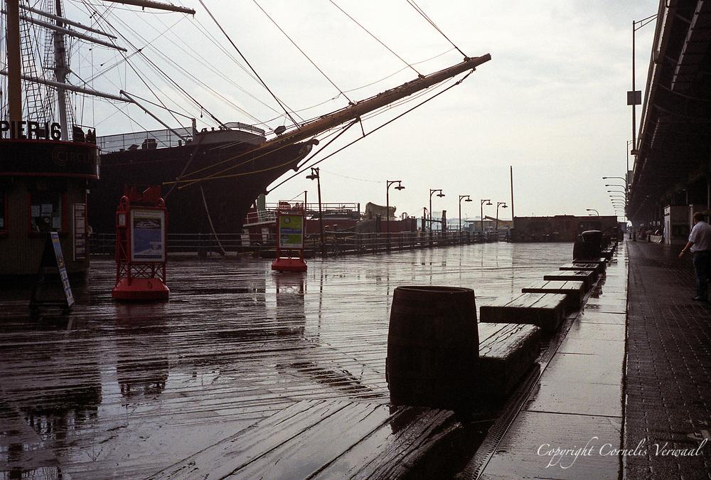 South Street Seaport, New York City, 2008.<br /> Olympus Trip 35, Zuiko 40mm, Fuji Superia 400.