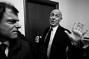 Marco Minniti,  incontra  la stampa   presso la sede della Federazione nazionale stampa italiana per discutere su minacce e aggressioni ai giornalistii. Roma 15 novembre 2017. Christian Mantuano / OneShot