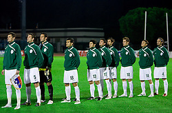 Team of Slovenia at the last 2010 FIFA World Cup South Africa Qualifying match in Group 3 between San Marino and Slovenia, on October 14, 2009, in Olimpico Stadium, Serravalle, San Marino. Slovenia won 3:0. (Photo by Vid Ponikvar / Sportida)
