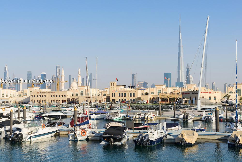 New redeveloped Jumeirah Fishing Harbour in Dubai United Arab Emirates