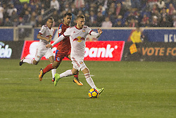 March 1, 2018 - Harrison, New Jersey, United States - Daniel Royer (77) of New York Red Bulls controls ball during 2018 CONCACAF Champions League round of 16 game against CD Olimpia of Honduras at Red Bull arena, Red Bulls won 2 - 0  (Credit Image: © Lev Radin/Pacific Press via ZUMA Wire)