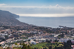 View of the island's capital Funchal from Pics Dos Barcelos.MADEIRA, September 23 2018. © Paul Davey