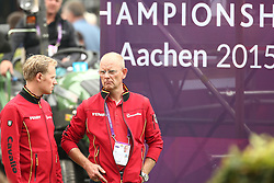 Rath, Matthias Alexander (GER); Röser, Klaus (GER)<br /> European Championship Aachen 2015 - Dressage<br /> © Hippo Foto - Stefan Lafrentz